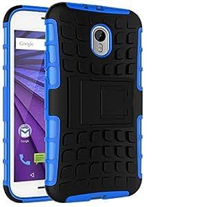 Store@urdoor Dual Layer Shockproof Rugged Hybrid Kick Stand Case for Motorola Moto G3 / Moto G (3rd Gen)