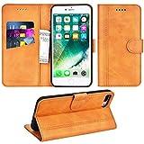 Adicase Coque iPhone 7 Plus Housse Etui Cuir Portefeuille Case pour Apple iPhone 7 Plus / 8 Plus 5,5' (Marron)