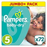 Pampers Baby Dry Windeln, Gr. 5 (11-23 kg), Jumbo Plus Pack, 2er Pack (2 x 72 Stück)