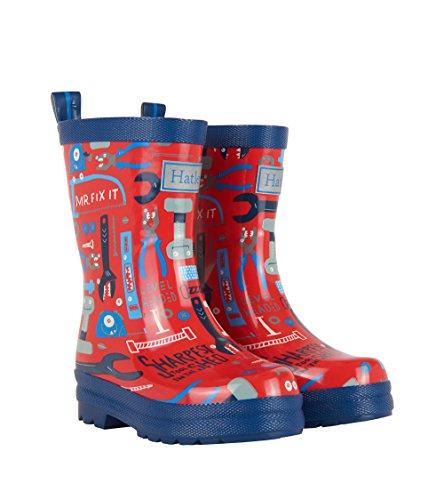 Hatley Boys' Printed Rain Wellington Boots