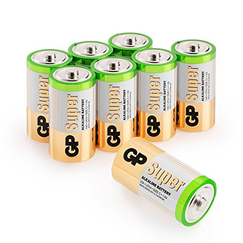 GP Batteries Pilas C/LR14 Super Alcalinas (Pack de 8)