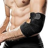 Hually Ellenbogenbandage, Ellbogen Bandage atmungsaktive Ellenbogenstütze mit Klettverschluss für...