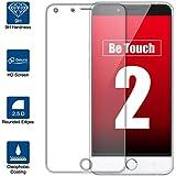 Beiuns Vidrio Templado Protector de Pantalla para Ulefone Be Touch 2 (5,5 pulgadas)