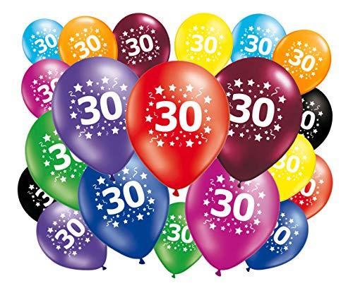 FABSUD Lote de 20globos cumpleaños 30años