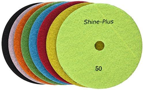 toolocity dpp7setb Bluetooth shine-plus Dry Diamant Polieren Pads Schwarz Buff, 8-teilig (And Buff Pads Shine)