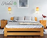 """New Solid Wooden Pine Bed Frame with plywood slats """"ONE"""" : (Alder, King size)"""