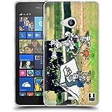 Head Case Designs Acampada Fotos De Aventura Garabateadas Caso de Gel Suave para Microsoft Lumia 535 / Dual SIM