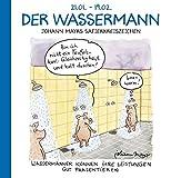 Der Wassermann: Witziges Cartoon Sternzeichen-Geschenkbuch im Format 11,5 x 11,5 cm -