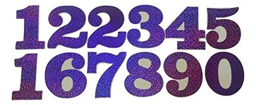 B2see Papeterie-Stickers-Chiffres-Autocollants-adhesifs Chiffres Violet Grande a Coller Grande Doree Auto-collantes (Violet)