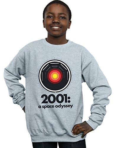 Absolute Cult 2001: A Space Odyssey Niños HAL 9000 Camisa De Entrenamiento Deporte Gris 7-8 Years