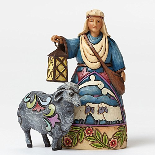 Jim Shore for Enesco Heartwood Creek Shepherd-Black Sheep Mini Nativity Figurine, 4 by Jim Shore for Enesco -