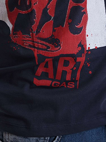 Gas 542888 T-shirt Man Blue