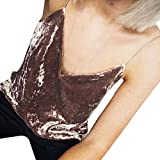 MOMOXI Chaleco para Mujer, Camisa sin Mangas del Chaleco sin Mangas de la Camisola de la Moda de Las Mujeres Blusa sin Mangas de la Camiseta Camiseta de Tirantes Gótica Sin Mangas diseño de Calaveras