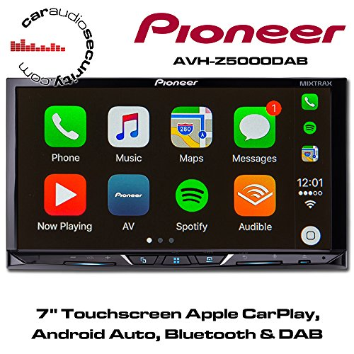 Pioneer AVH-Z5000DAB | 2DIN Autoradio - 7 Zoll Clear-Resistive-Touchpanel | Bluetooth | DAB+ | Apple CarPlay | Android Auto | Waze | Navigation | AppRadio | Freisprecheinrichtung | Media-Receiver für Audio Video CD DVD USB Auto Radio Pioneer Avh