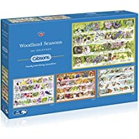Gibsons Woodland Seasons Jigsaw Puzzle, 4x500 piece