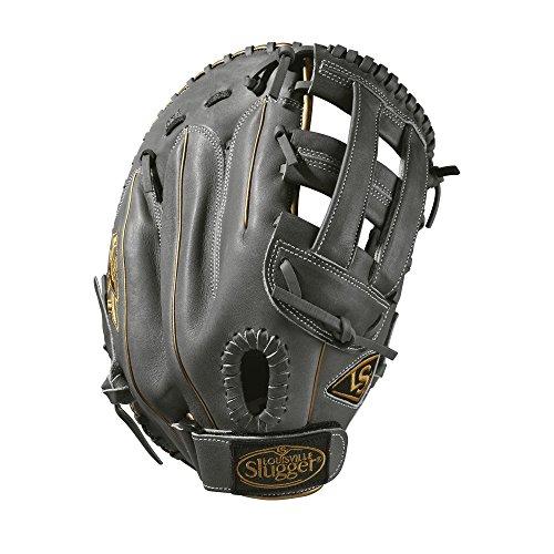 Louisville Slugger 2019LXT First Base Fastpitch Handschuhe-Rechte Hand Überwurf Tief Grau/Gold, 33cm -