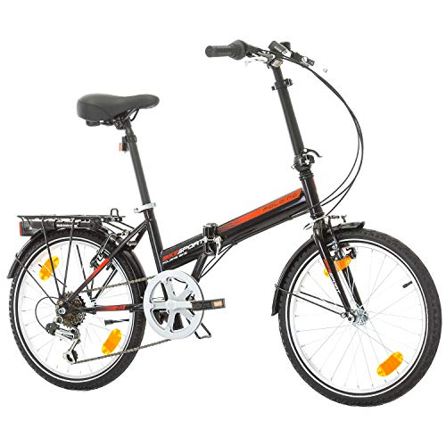 Bikesport FOLDING Bicicleta plegable ruedas de 20' Shimano 6 velocidades (Nero)
