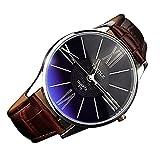 YaZhuoLun Herren Quarzuhr Armbanduhr Legierung PU-Leder Wasserdicht Geschäftsuhr Uhren Uhr(Braun)