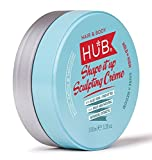 HUB Shape it up Sculpting Crème Styling Product - 100 g / 100 ml x 1. Strong Hold and Medium Shine Finish. Hair Wax for men and women. Deluxe and best, salon professional shaper formulation. ( Putty, clay, pomade, fiber or wax category product ). PALM OIL FREE, PARABEN FREE, SULPHATE FREE