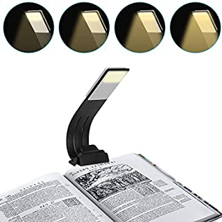 Aibesser Book Reading Light Clip Light with USB Rechargeable 4 Level Dimmable Flexible for Night Reading in Bed