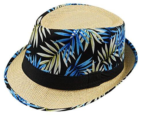 Feelinko Hut Sommer Urlaub Sonnenschutz Kopfbedeckung Panama Herren, 57-59, Blau