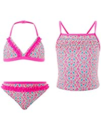 Accessorize Ensemble bikini 3pièces motif petites fleurs ditsy - Fille