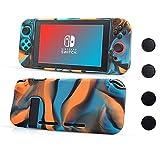 CHINFAI Nintendo Switch Hülle, Anti-Rutsch-Silikon-Schutzhülle mit 4pcs Thumbsticks Griffe, Stoßdämpfung und Anti-Scratch Design für Nintendo Switch (Tarnungsfarbe)