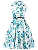 GRACE KARIN Maedchen Aermellos Blumen Kleid Ballkleid 6-7 Jahre CL9000-6