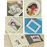 Baosity Puppenhaus Miniatur Bilderrahmen Fotorahmen Bildergalerie Scrapbooking DIY Basteln - Farbe #4