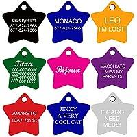 CNATTAGS etiquetas de perro Pet etiquetas personalizado | 11Formas | 8colores | Premium aluminio