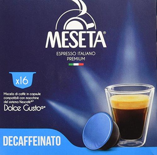 Caffè Meseta Capsule Compatibili Nescafé Dolce Gusto Miscela Decaffeinato - 16 Capsule