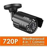 ZOSI CCTV Outdoor 720P 4-in-1 Video Überwachungskamera Außen Wasserdicht Kamera, 3.6mm Linse, 24 IR LEDs, 20M Nachtsicht, BNC Kabelgebunden, mit OSD Taste