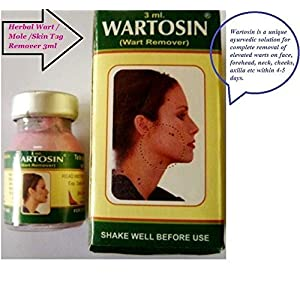 Artcollectibles India 4 X Wartosin Herbal Wart Remover Elevated Mole Skin Tag Removal 3Ml by Artcollectibles India