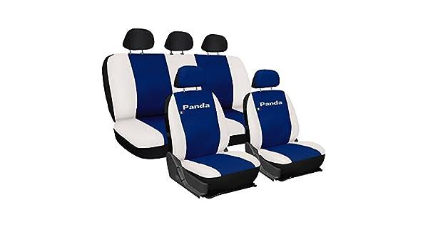 Sitzbezüge schwarz hinten KOS FIAT PANDA