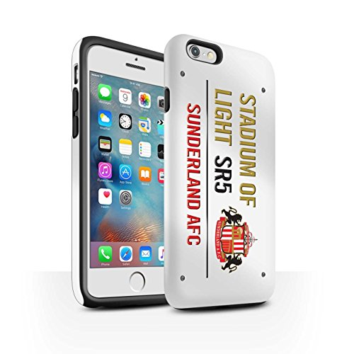 Officiel Sunderland AFC Coque / Matte Robuste Antichoc Etui pour Apple iPhone 6S+/Plus / Pack 6pcs Design / SAFC Stadium of Light Signe Collection Blanc/Or
