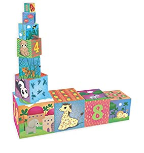 Vilac Vilac2481 - Cubos de cartón para Nido de Animales