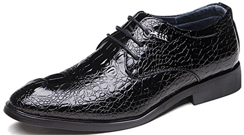 DADAWEN Homme Casual Autume Leather Chaussure Noir