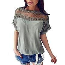 Camisetas mujer 2018, Las señoras de la moda de manga corta Tops Casual