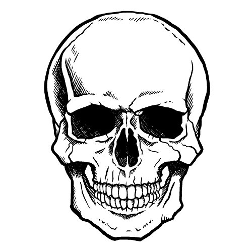 Feinkontur-Stempel | Scrapbooking, Handwerk, Heimwerk, DIY, Grußkartengestaltung (Totenkopf, 10 x 15 cm)