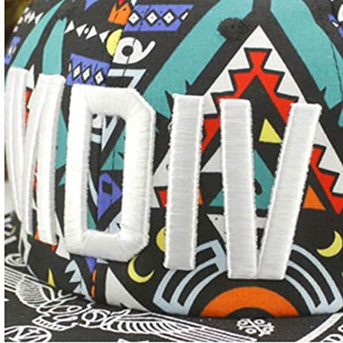 Imagen de  de béisbol unisex de hip hop de dibujos animados de algodón streetwear graffiti totems imprimir hip pop hat para hombres de las mujeres alternativa