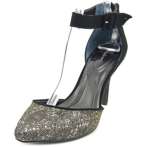 Style & Co Galaxxy Spitz Synthetik Stöckelschuhe Pewter/Gold/Black
