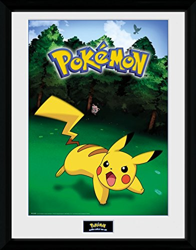 Pokemon-Catch-Pikachu-Pster-De-Coleccin-Enmarcado-40-x-30cm