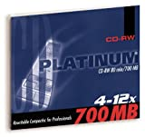 Platinum 700 MB CD-RW Rohling (12x Speed, 80 Min) im Jewel Case, 10er Pack