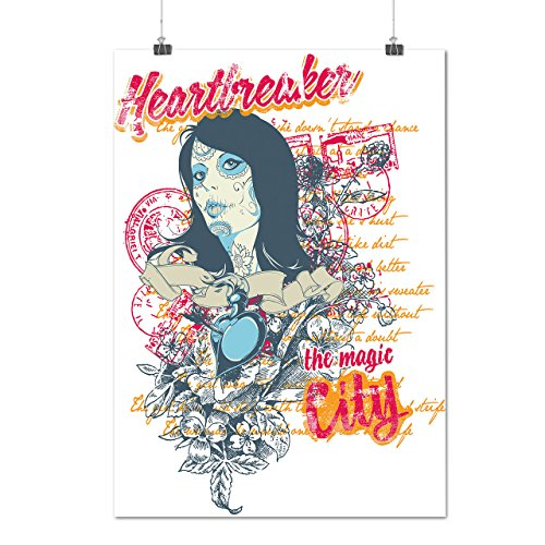 Herzensbrecher Valentine Stadt Frau Mattes/Glänzende Plakat A4 (30cm x 21cm) | (Kostüme Stadt Party 60)