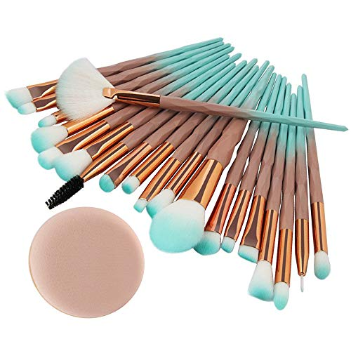 pitashe Make up Pinsel Set 20pcs Mehrfarben Nylonhaar Professionelle Makeup Pinsel Set Schminkpinsel...
