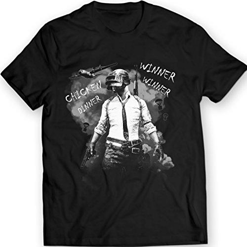 Winner Winner Chicken Dinner Shirt, PUBG tee, Playerunknown's Battlegrounds T-Shirt (XL, Noir)