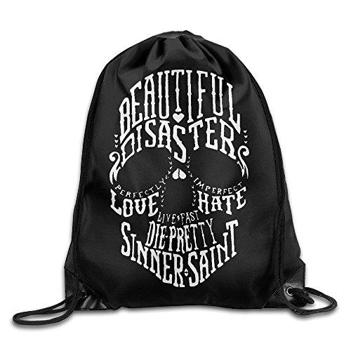 Doormat bag Bolsa de felpudos con cordón para mochila, diseño de calaveras