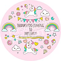 Unicorn Rainbow Magical Sticker Labels (24 Stickers, 4.5cm Each) NON PERSONALISED Seals Ideal for Party Bags, Sweet Cones, Favours, Jars, Presentations Gift Boxes, Bottles, Crafts