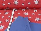 Glünz Softshell Magic Reflektion Stars, Rot, Öko-Tex