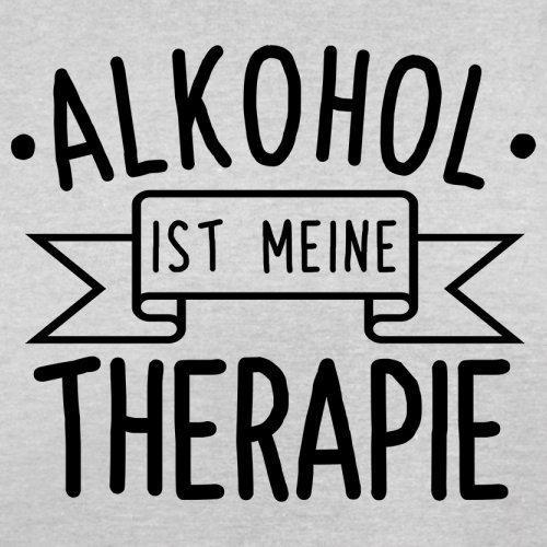Alkohol ist meine Therapie - Herren T-Shirt - 13 Farben Hellgrau